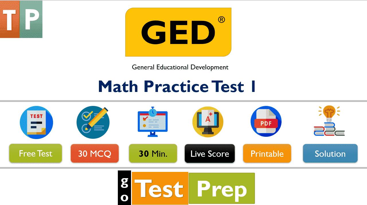 GED Math Practice Test 2020 Free PDF