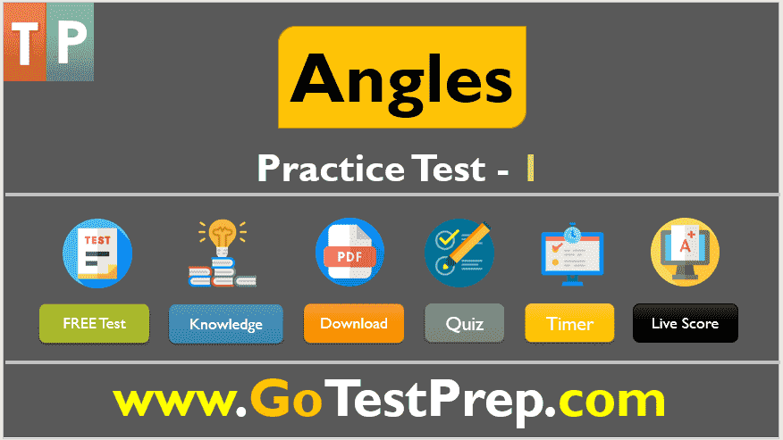 Angles Practice Test Question Answers (Elementary Geometry)