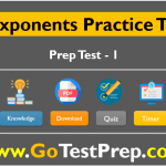 Exponents Practice Test Question Answers 2020