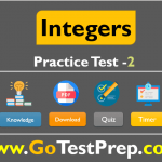 Integers Practice Test Question Answers SET - 2