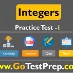 Integers Practice Test Sample Question Answers PDF
