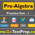 Pre-Algebra Practice Test Question Answers [Test SET 2]
