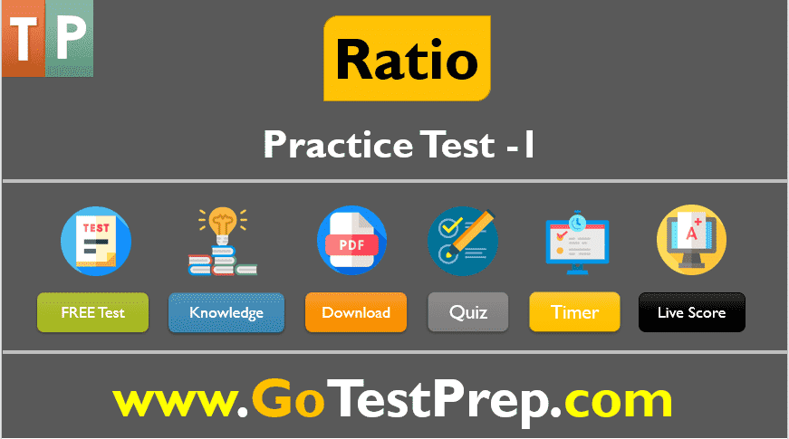 Ratio Practice Test Problems Question Answers