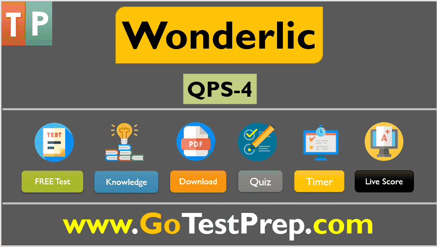 Wonderlic Practice Test: 10 Sample Question Answers QPS SET-4