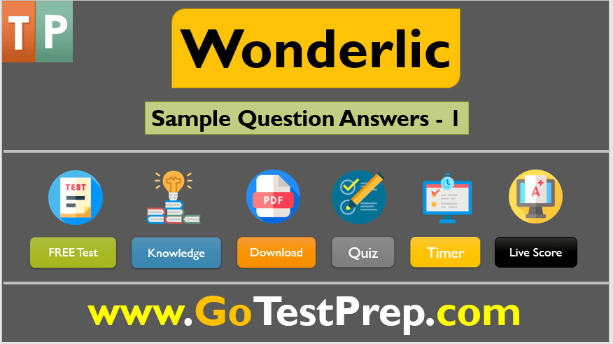 Wonderlic Practice Test 2021 Sample Question Answers [PDF]