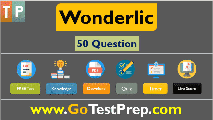 Wonderlic Test: 50 Sample Question Answers