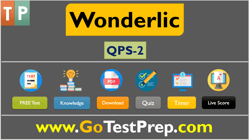 Wonderlic Test QPS 2020 PDF