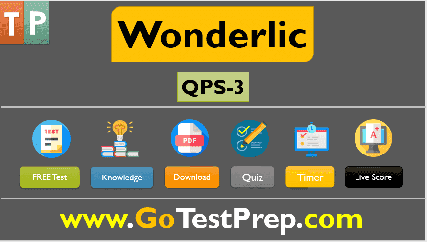 Wonderlic Test Sample Practice Question Answers: QPS SET-3