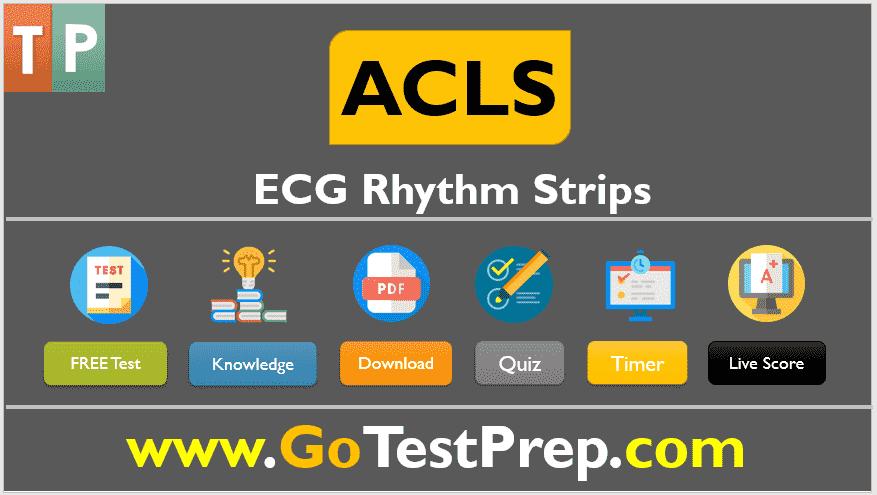 ACLS ECG Rhythm Strips Pretest 2020