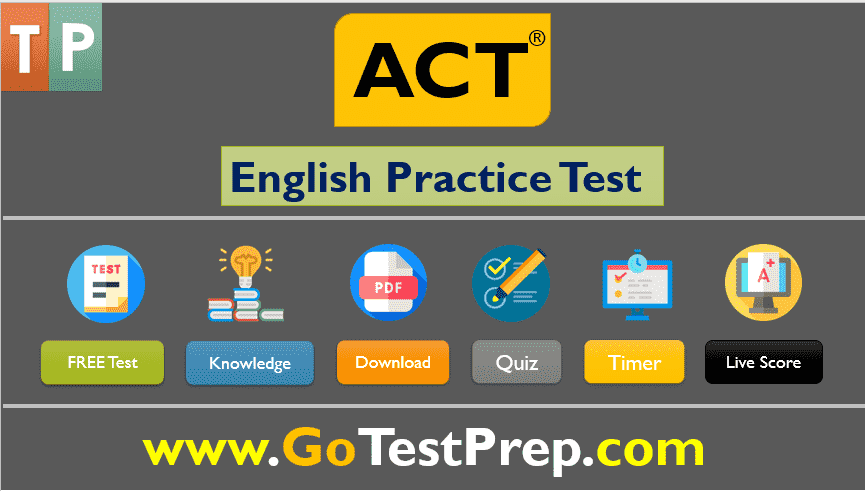 ACT English Practice Test Review Question Answer