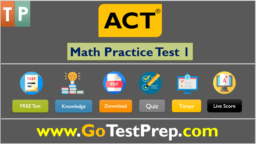 Free ACT Math Practice Test 2020