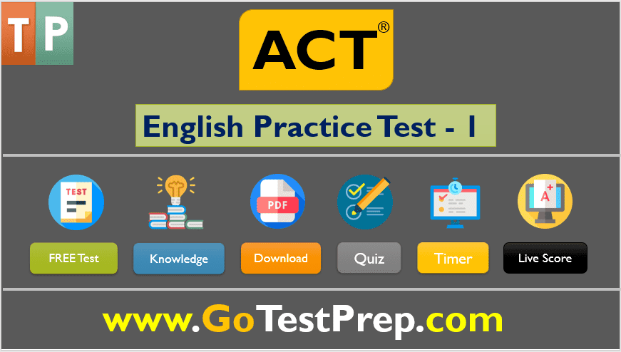 ACT English Practice Test 1 (Full Question Answers SET) Free