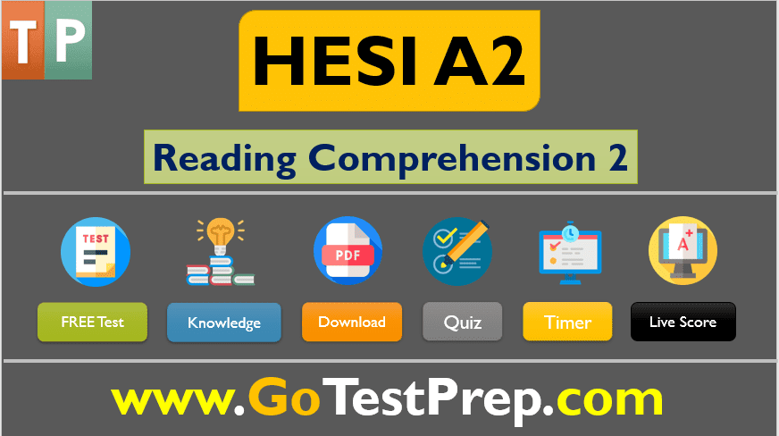 HESI A2 Reading Comprehension Passages Test Question Answers