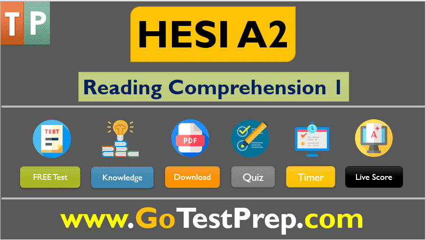 HESI A2 Reading Comprehension Practice Test 2020 Question Answers