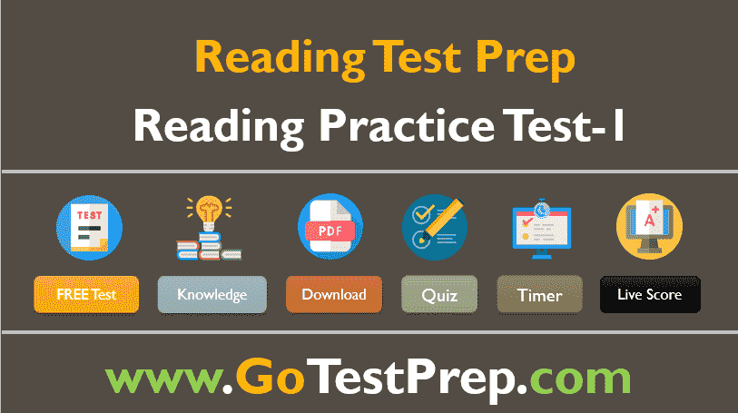 Reading Practice Test - 1 Questions Answers [PDF]