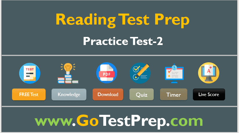 Reading Practice Test – 2 (Reading Comprehension) Question Answers Free PDF