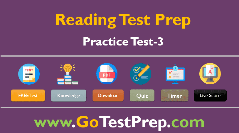 Reading Practice Test – 3 (Comprehension Passages)