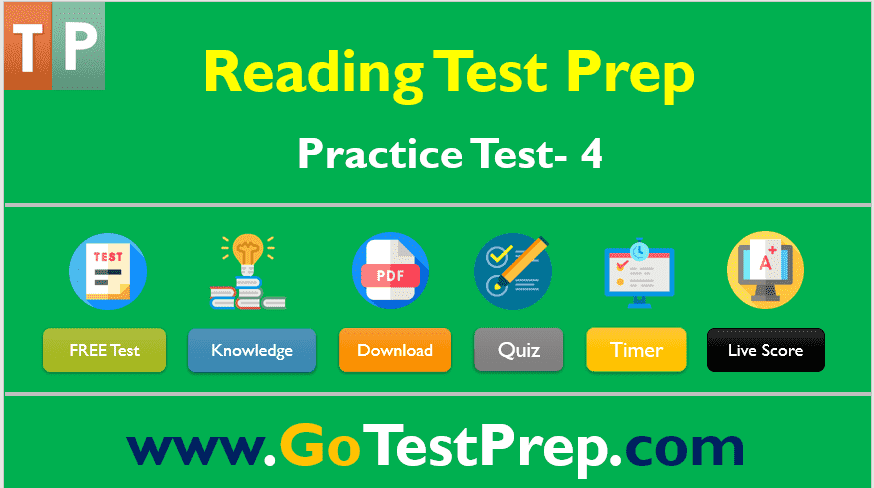 Reading Practice Test – 4 : Question Answers (PDF)