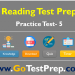 Reading Practice Test – 5 (Reading Comprehension) Question Answers: