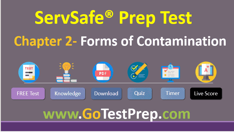 ServSafe Practice Test Chapter 2- Forms of Contamination