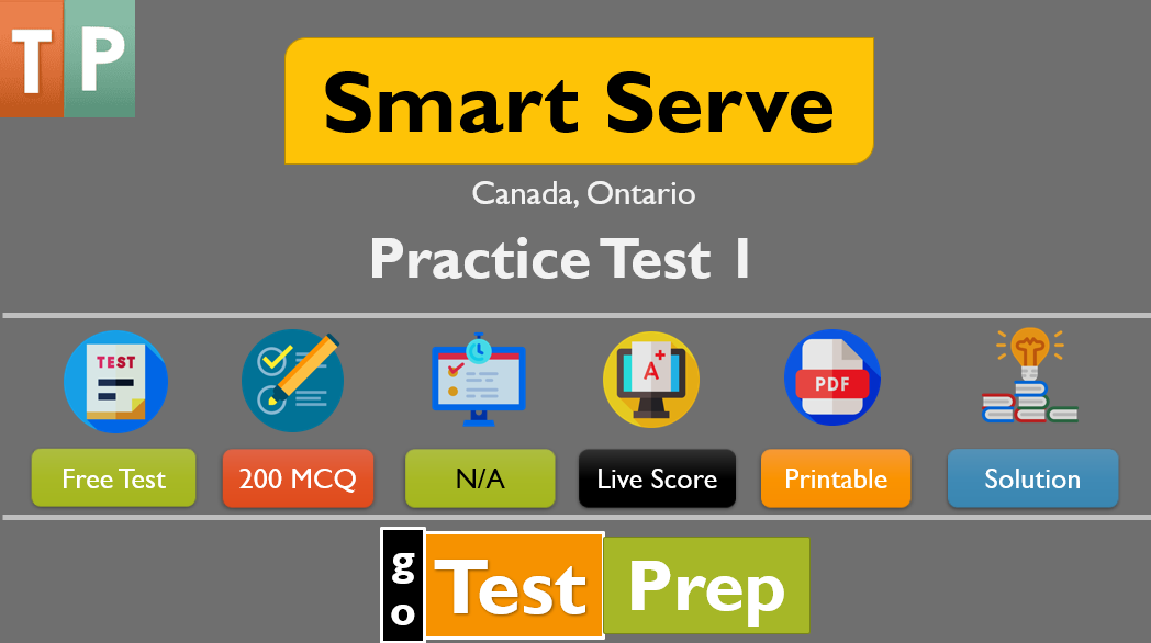 Smart Serve Practice Test 2021 Canada, Ontario (FREE PDF)