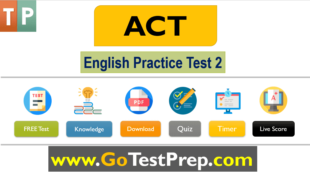 ACT English Practice Test 2 (75 Questions with Answers) Online Quiz