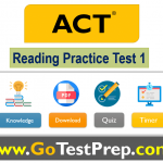 ACT Reading Test 1 (4 Passages and 40 Questions) with Answers