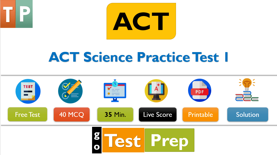 ACT Science Practice Test 1 (40 questions) with Answers and Explanation