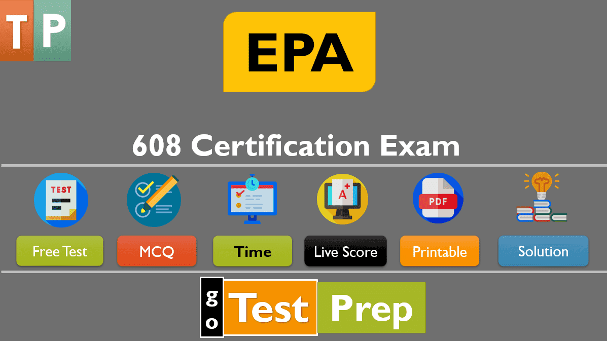 EPA 608 Certification Exam Practice Test 2021