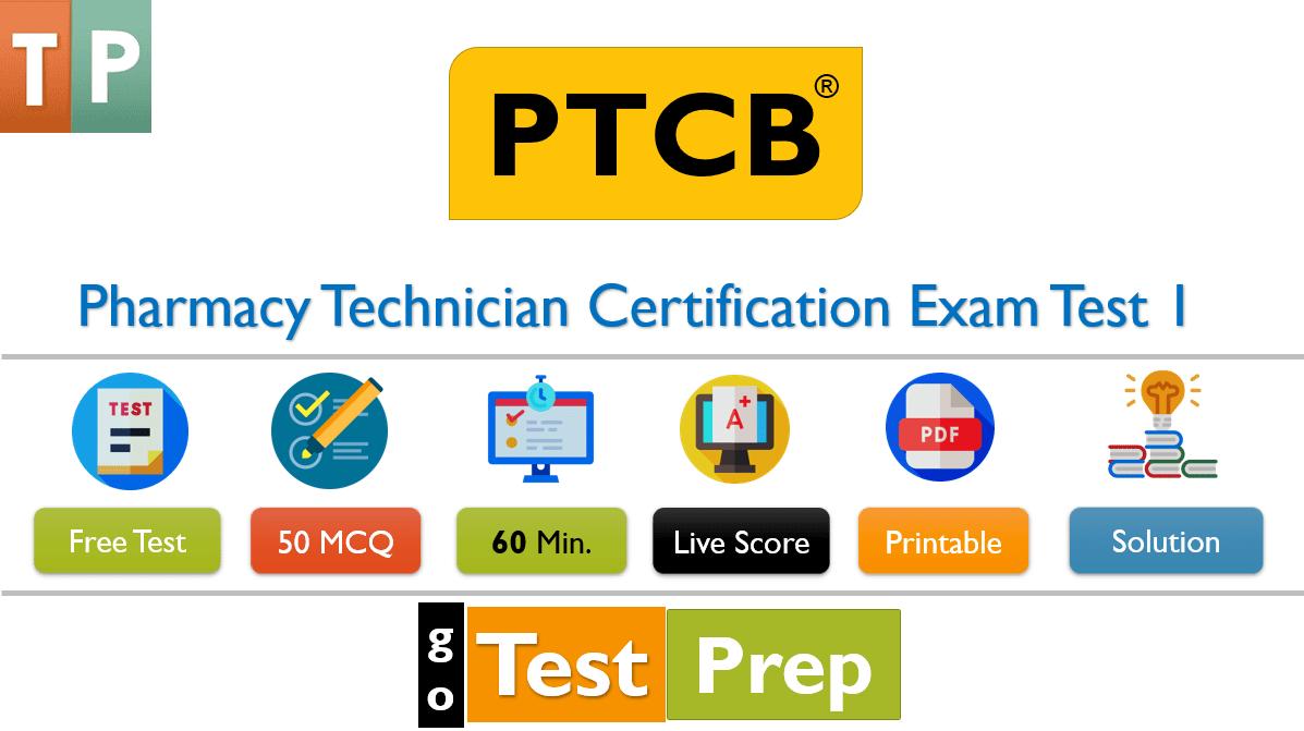 Free PTCB Practice Test 2020 Pharmacy Technician Certification Exam