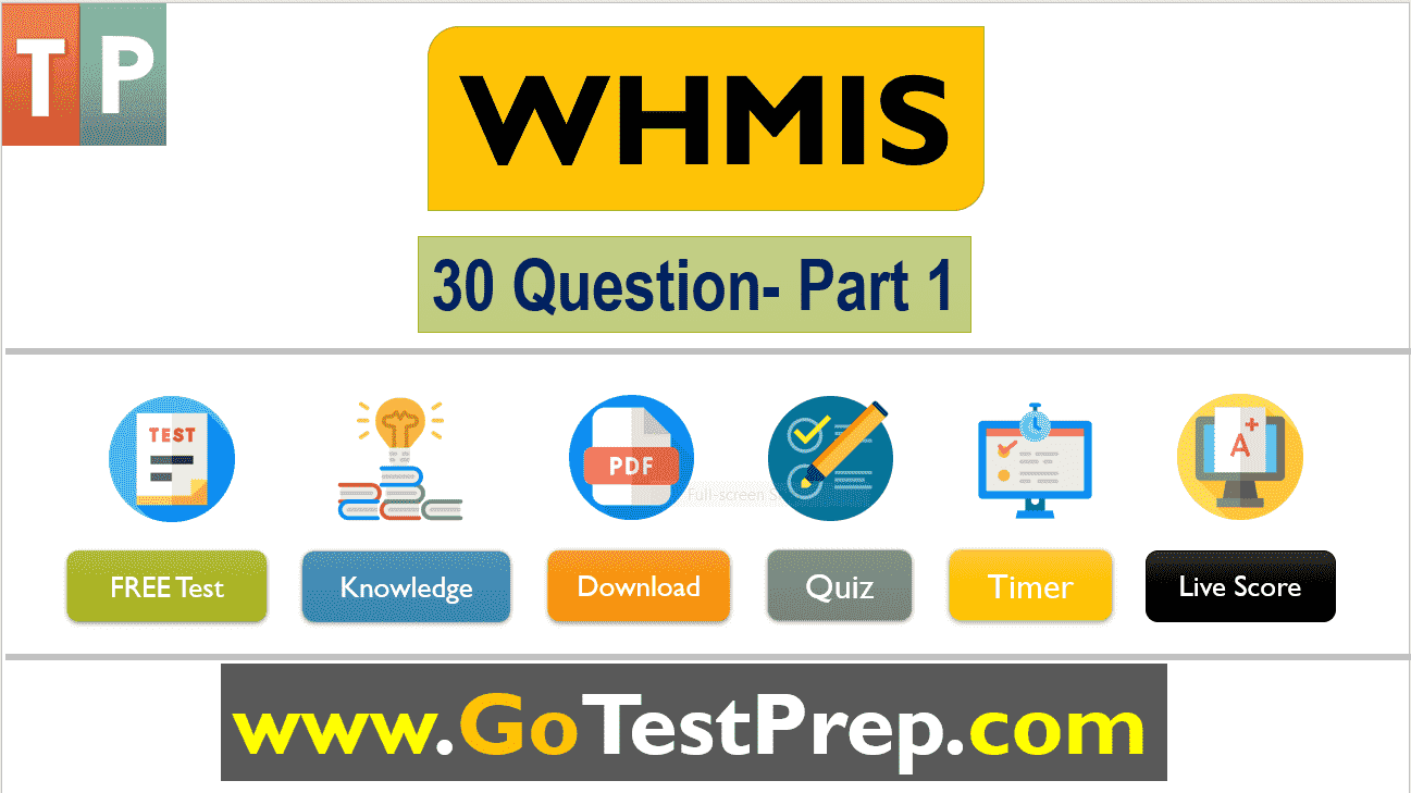 WHMIS Test Multiple Choice Quiz Answers