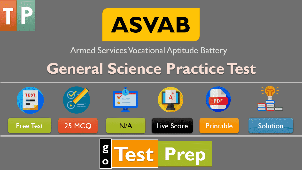 Free ASVAB General Science Practice Test 2020 PDF