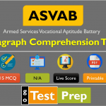 ASVAB Paragraph Comprehension Practice Test 2020 Free PDF