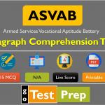 ASVAB Paragraph Comprehension Practice Test 2020 Free PDF