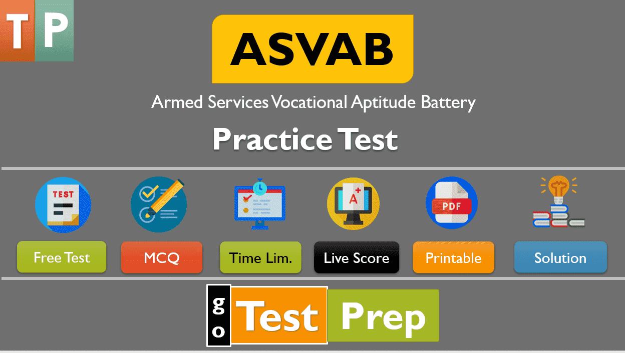 ASVAB Practice Test 2020 Free Printable PDF