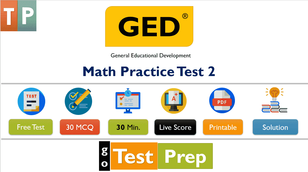 GED Math Test Questions Answers (Free Printable PDF)
