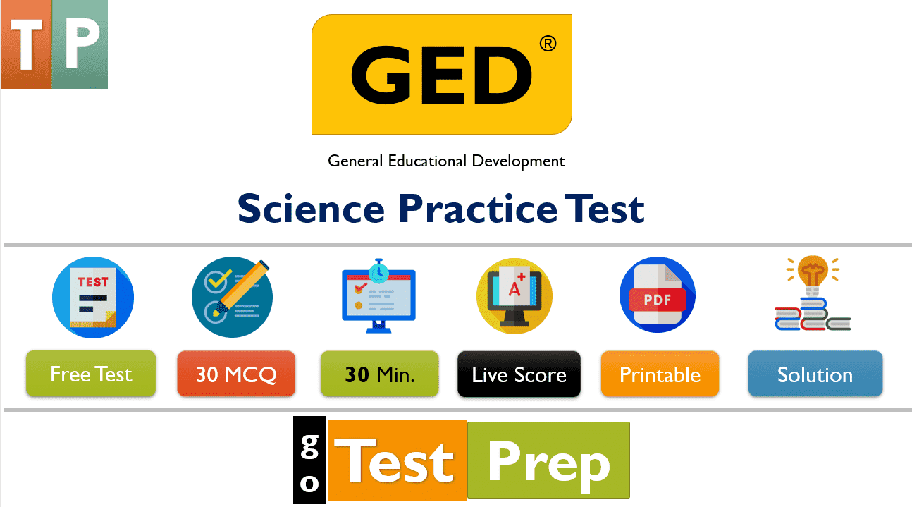 GED Science Practice Test 2020 Printable PDF