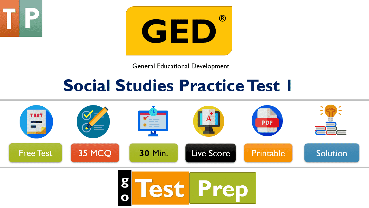 GED Social Studies Practice Test 2021 Question Answers (Free Printable PDF)