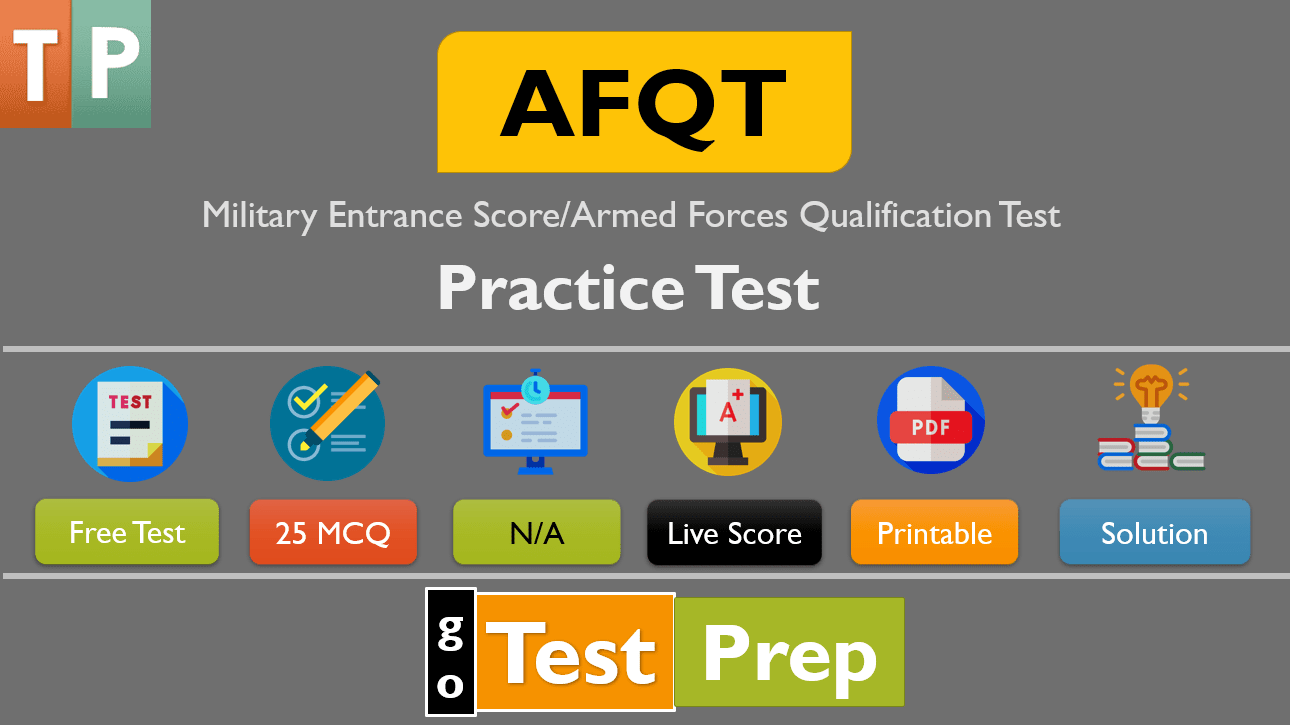 AFQT Practice Test 2020 Free Printable PDF with answers