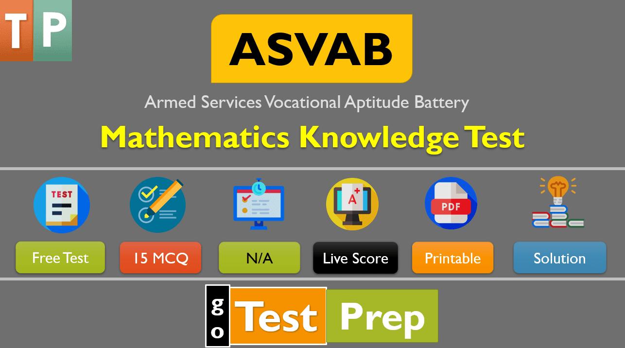 Free ASVAB Math Practice Test 2020 PDF