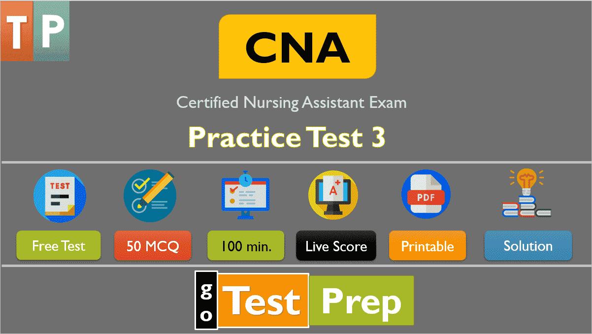 CNA State Exam Practice Test 3 (Free Printable PDF)