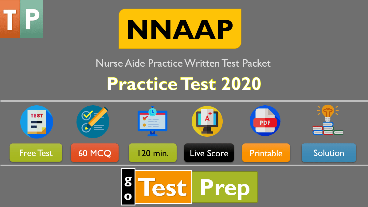 NNAAP Practice Exam 2020 (Nurse Aide Practice Written Test Packet) PDF