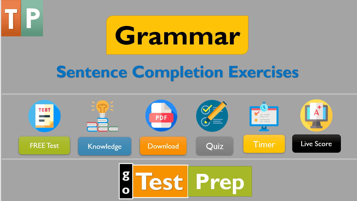 Sentence Completion Exercises Question Answers with PDF