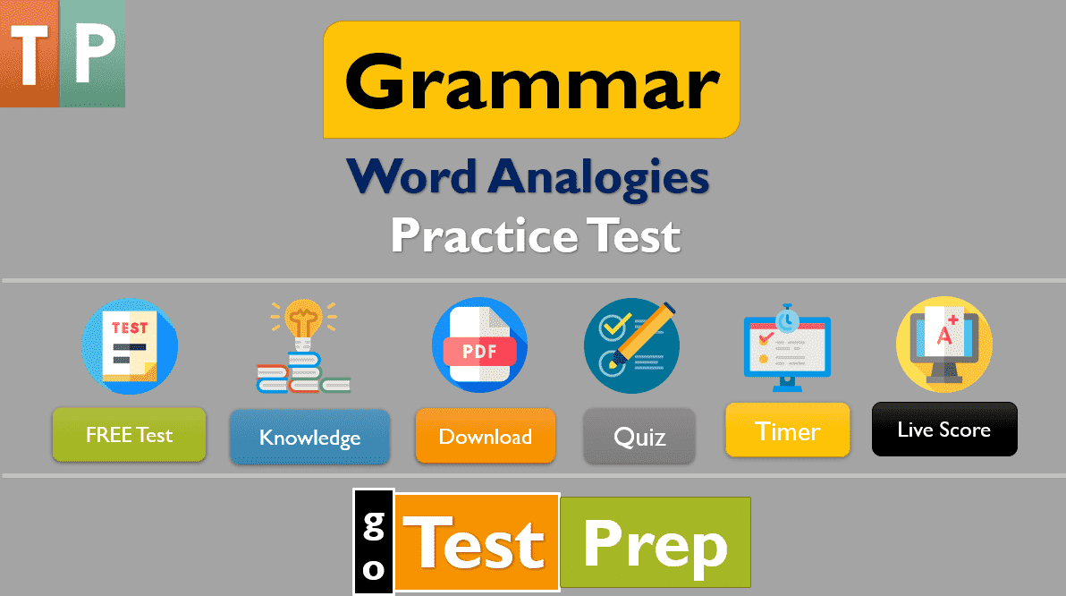 Word Analogies Practice Test 2021 Questions Answers (PDF ...