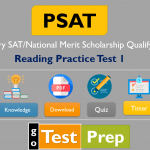 PSAT Reading Practice Test 1 (PSAT/NMSQT/PSAT 10) Questions Answers
