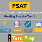 PSAT Reading Practice Test 3: New PSAT/NMSQT and PSAT 10