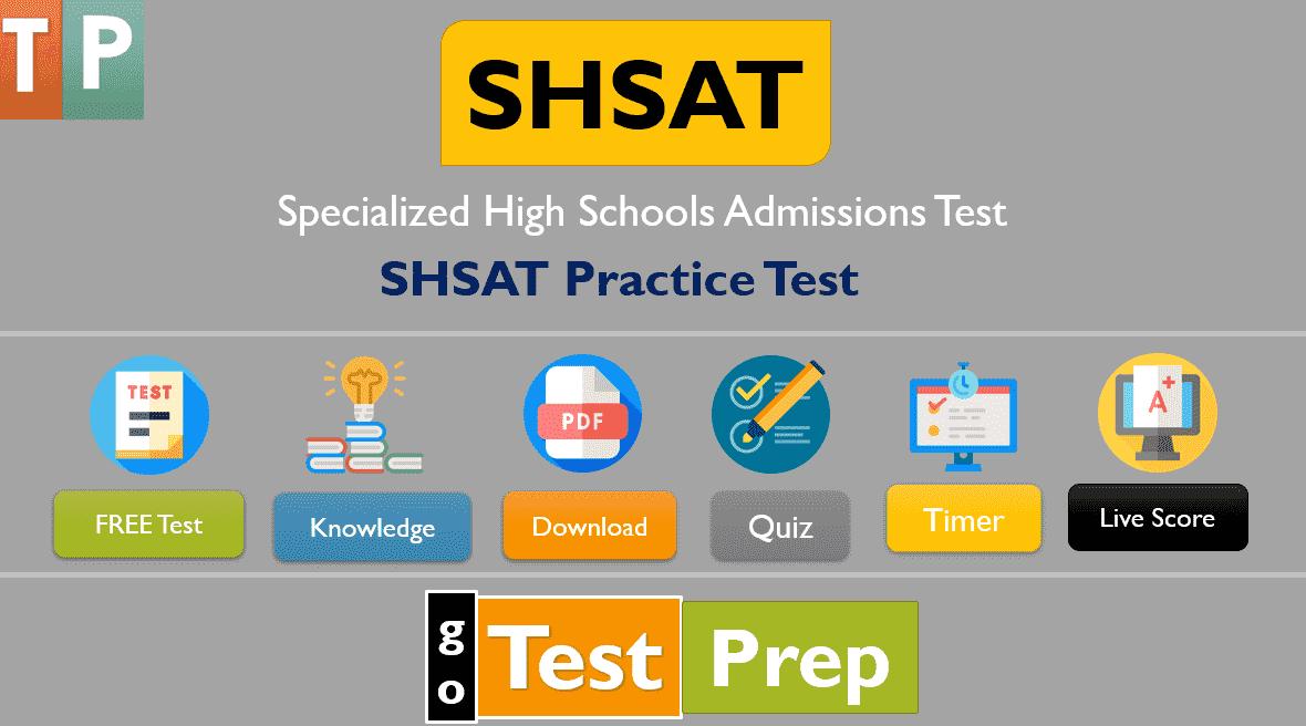 Free SHSAT Practice Test 2021: (Free Sample PDF)