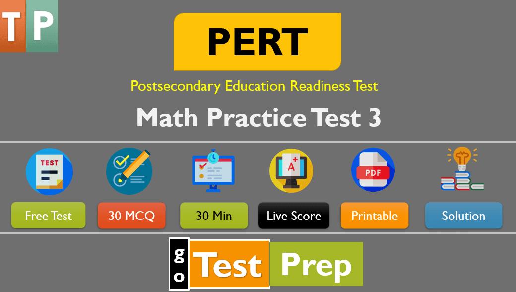 Florida's PERT Math Practice Test 3
