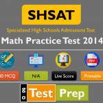 Free SHSAT Math Practice Test 2014 (Released Question Answers)