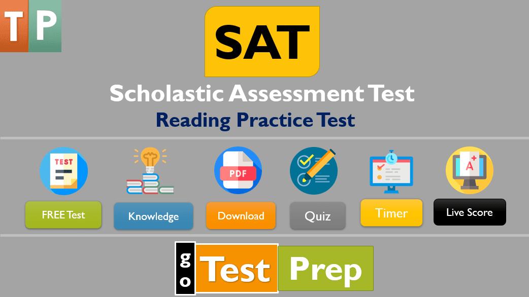 SAT Reading Practice Test 1 (PDF) Printable Worksheet